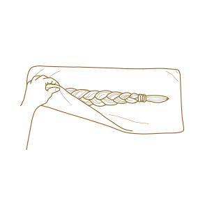 VÝKUP VLASOV - Ako správne odstrihnúť vlasy - Po odstrihnutí zabaľte vlasy do uteráka alebo sáčku a snažte sa s nimi čo najmenej manipulovať.